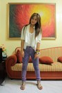 White-sm-department-store-blazer-amethyst-thrifted-pants-ivory-esprit-top