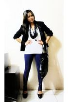 black Frank Usher blazer - blue Ferre Jeans - black BEST FINDS THIFTSHOP shoes -