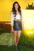 Gold Dot shoes - BESTFINDS THRIFTSHOP blazer - Paradigma Shop skirt