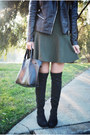 Black-ivanka-trump-boots-olive-green-laurent-floral-others-follow-dress