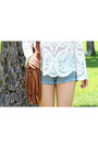 Tawny-fringe-h-m-bag-light-blue-others-follow-shorts-silver-baby-b-bracelet