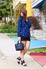 Blue-tweed-blazer-jyjz-jacket-navy-alanis-obey-shirt-black-mimi-boutique-bag