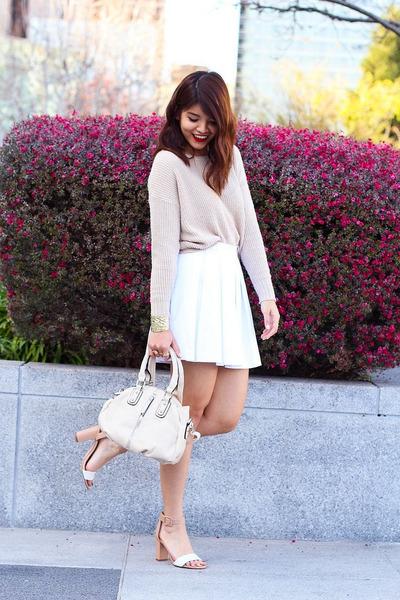 white pleated skater Crossroads Trading skirt