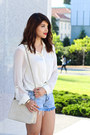 Ivory-vintage-chanel-bag-light-blue-tapestry-denim-others-follow-shorts