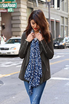 olive green Aritzia jacket - black suede Marc Fisher boots