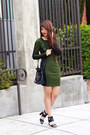Army-green-modaxpress-dress-black-bucket-thrifted-coach-bag
