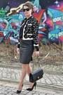 White-moschino-jacket-black-chanel-bag-black-zara-blouse-black-zara-skirt