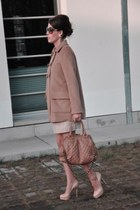 camel DIY coat - beige Marc Jacobs bag - nude Zara skirt - nude Buffalo heels