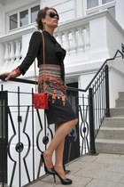 black roberto cavalli sunglasses - black DiY sewing blouse - black H&M skirt