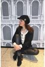 Black-varese-boots-black-sewing-diy-hat-black-oakwood-leggings