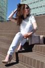 White-7-for-all-mankind-jeans-white-zara-shirt