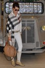 Beige-belstaff-boots-white-rock-republic-jeans-tan-burberry-scarf