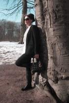 black Gucci boots - black Rock & Republic leggings - black Hallhuber blazer