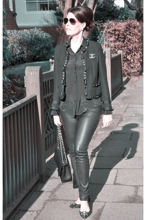 black Steffen Schraut jacket - black Oakwood leggings - black Chanel bag