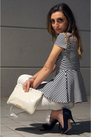 Zara blouse - Miu Miu bag - dolce e gabbana heels - Betty Blue pants