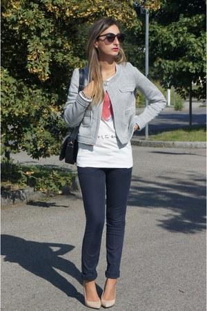 itrt t-shirt - Pinko jeans - united colors of benetton jacket - Zara heels