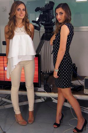dolce e gabbana heels - Camiceria Baldini dress - Ugg sandals - Zara top