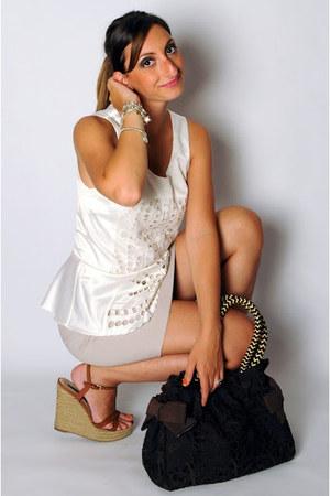 H&M top - Desmo bag - borgo degli ulivi heels - Zara skirt