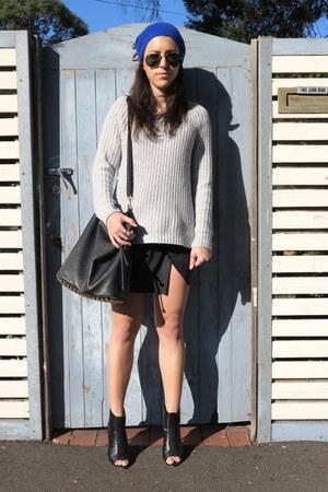 Sportsgirl hat - Sportsgirl sweater - Helmut Lang skirt - Wittner heels