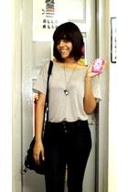 Canalies bag - camera locket flea market necklace - f21 t-shirt - Accessorize ac
