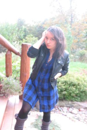 jacket - dress - tights