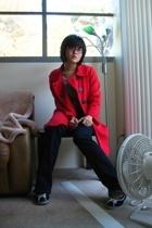Chalet coat - Korean blouse - papaya jeans - Steve Madden shoes