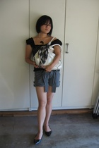 Peace of Us top -  shorts - Mae and J purse - CL by Laundry shoes