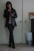Mums old leather jacket - Brothers old shirt - forever 21 jeans - Nicole shoes