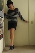 Forever21 hat - Forever21 top - Forever21 skirt - Nicole shoes