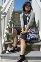 top - energie jacket -  shorts - Converse shoes