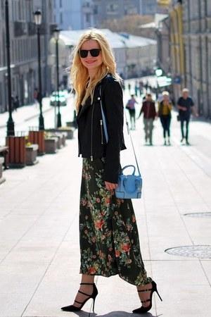 Stradivarius dress - Mango jacket - new look bag