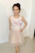 light pink thrift dress - light pink tutu skirt thrifted skirt