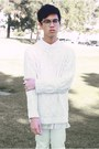 White-nike-shoes-white-sweater-white-sweater-white-lace-h-m-shirt-white-