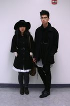 black coat - black Forever 21 coat - black Levis jeans - black H&amp;M sweater