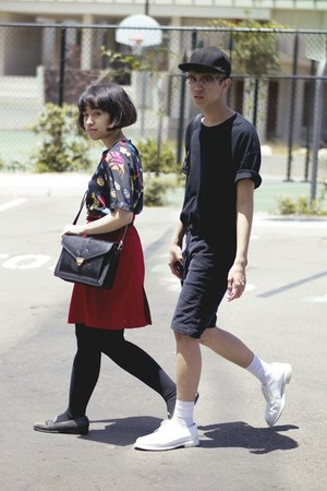 black oversized American Apparel t-shirt - white shoes