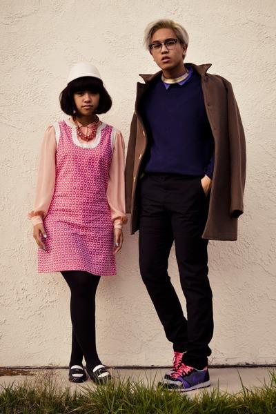 ivory H&M hat - amethyst nike shoes - bubble gum Target dress