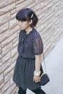 Black-polka-dot-forever-21-dress-heather-gray-cropped-diy-sweater