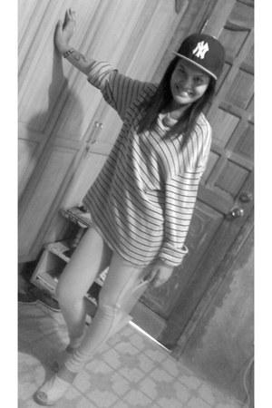 Topshop leggings - silver amblvd hat - Gap hoodie - WADE clogs