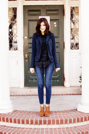 Gap blazer - Steve Madden boots - Old Navy jeans - Gap blouse