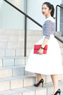 Red-python-leather-purse-sportsgirl-top-white-topshop-skirt