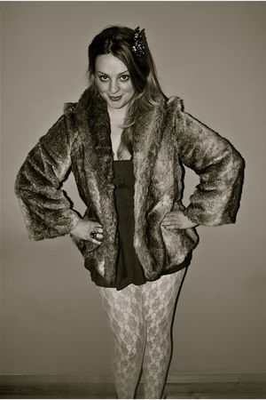 faux fur new look jacket - lace Topshop leggings