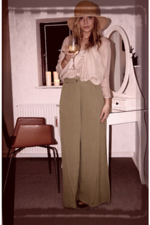 asos pants - 2hand hat - Zara blouse