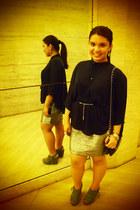Forever 21 skirt - Zara cape - Brash wedges