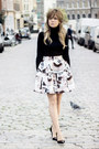 Black-massimo-dutti-sweater-off-white-hm-skirt-black-office-heels