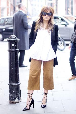 black Mango blazer - white Topshop shirt - black Office heels