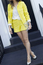 Yellow-zara-dress-white-h-m-shirt-white-zara-heels