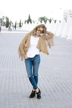 Zara boots - asos jeans - asos shirt