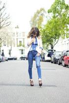 Zara shirt - next jeans - Mango blazer - Zara heels