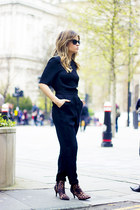 brick red Top Shop bodysuit - H&M heels
