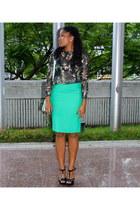 Zara skirt - n34 bag - Zara blouse - Steve Madden heels